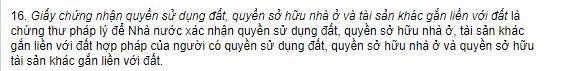 khoan 16 Dieu 3 Chung thu phap ly - LÀM LẠI SỔ HỒNG