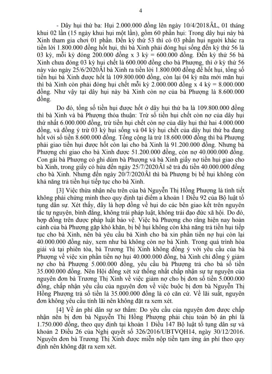 HUI 4 - TRANH CHẤP HỤI - BẢN ÁN THỰC TẾ TẠI SÓC TRĂNG