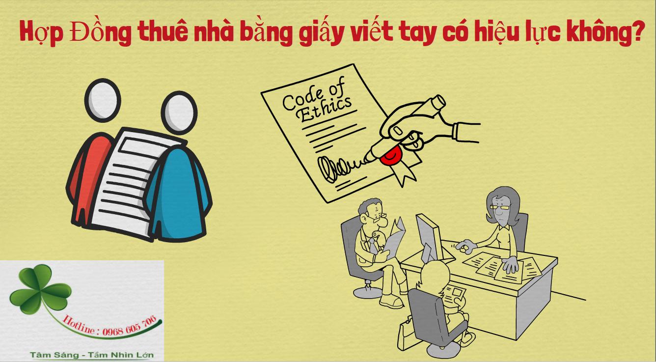 Hop Dong thue nha bang giay viet tay co hieu luc khong - Hợp Đồng thuê nhà bằng giấy viết tay có hiệu lực không?