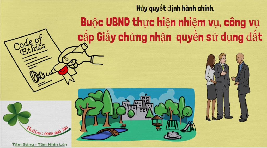 Huy quyet dinh Hanh chinh Buoc UBND thuc hien nhiem vu cong vu cap Giay chung nhan quyen su dung dat 1024x568 - Hủy quyết định hành chính, Buộc UBND thực hiện nhiệm vụ, công vụ cấp Giấy chứng nhận