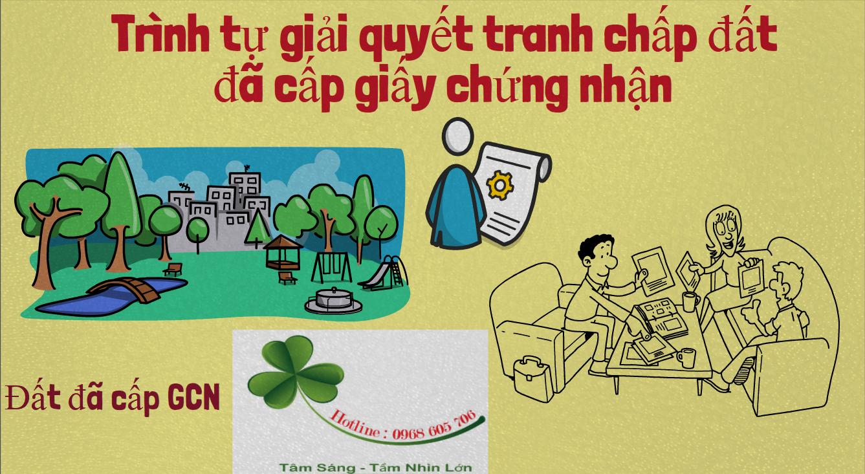 Trinh tu giai quyet tranh chap dat da cap giay chung nhan - Trình tự giải quyết tranh chấp đất đã cấp giấy chứng nhận